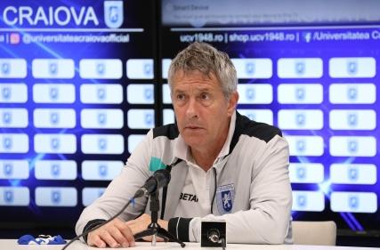 Conferință de presă la finalul meciului cu CFR Cluj.