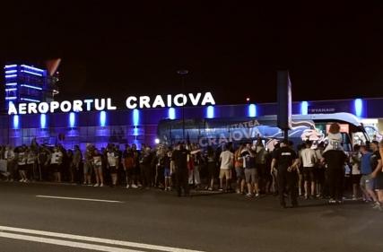 Atmosfera de la aeroport după meciul cu CFR Cluj.