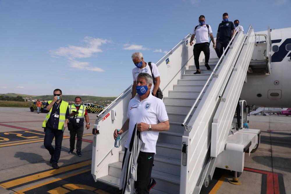 Alb-albaștrii au ajuns la Cluj
