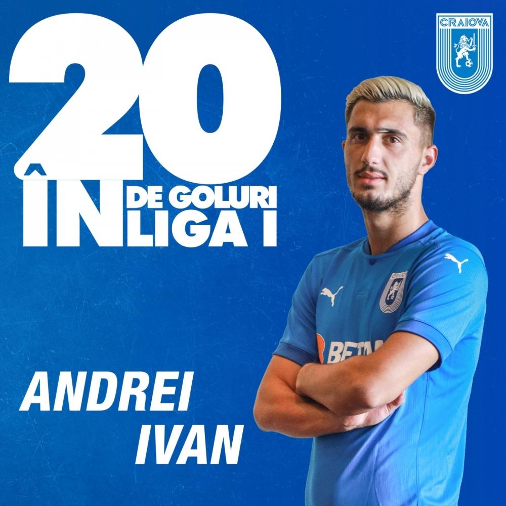 Ivan, golul cu numărul 20 în Liga 1