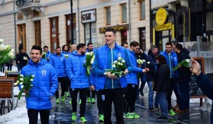 Jucătorii Științei au oferit flori de #8Martie