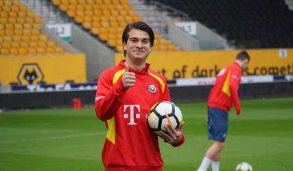 Răzvan Popa a evoluat o repriză în remiza cu Wolverhampton U-23