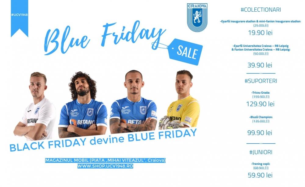 #BlueFriday revine în Bănie și ține 8 zile!