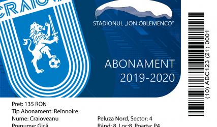 PREȚURILE ABONAMENTELOR PENTRU SEZONUL 2019 - 2020