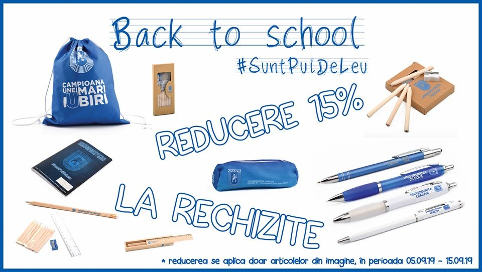 Back to school cu discount de 15%