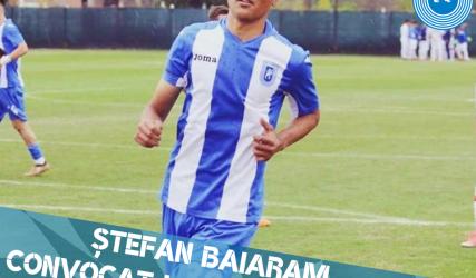 Baiaram va lupta sub tricolor pentru Naționala Under-17