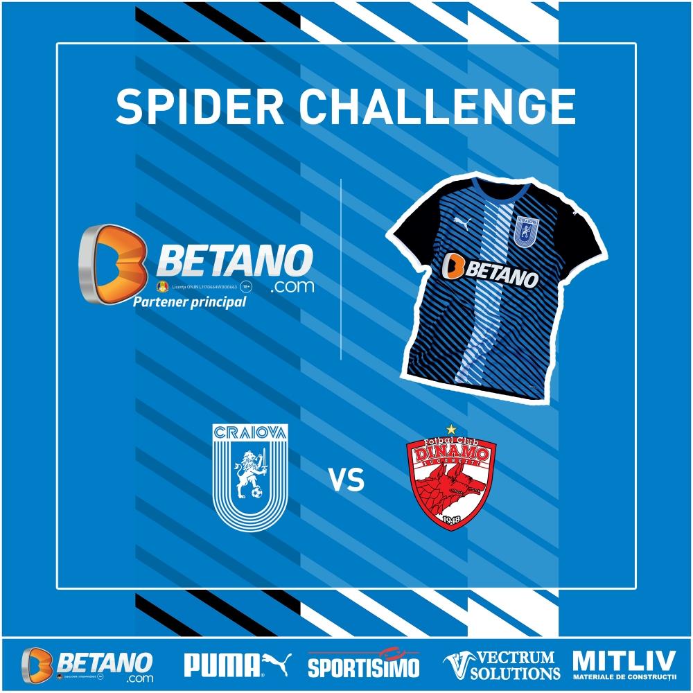 Spider Challenge la meciul cu Dinamo