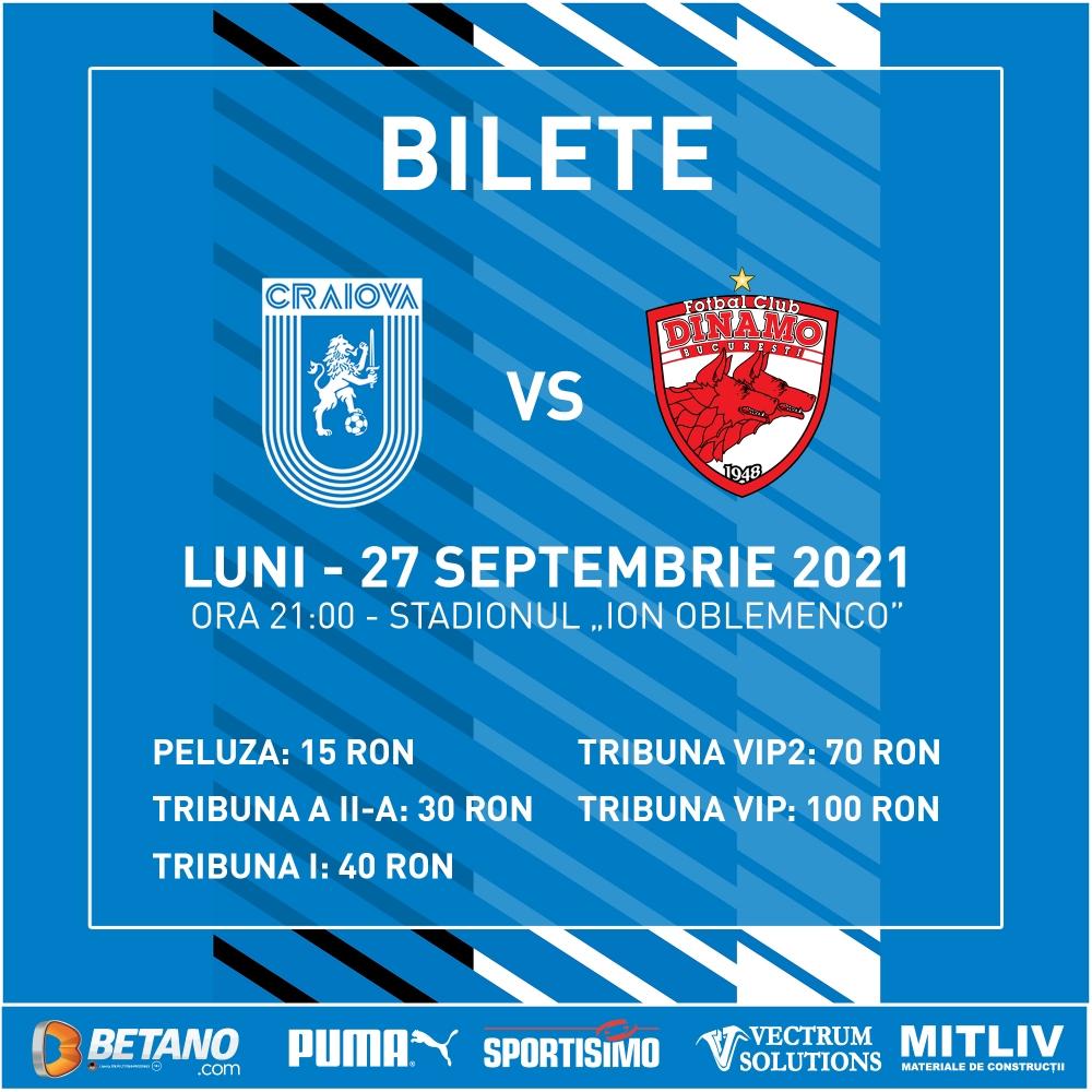 Bilete la derby-ul cu Dinamo