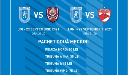 Pachete speciale cu CFR Cluj și Dinamo