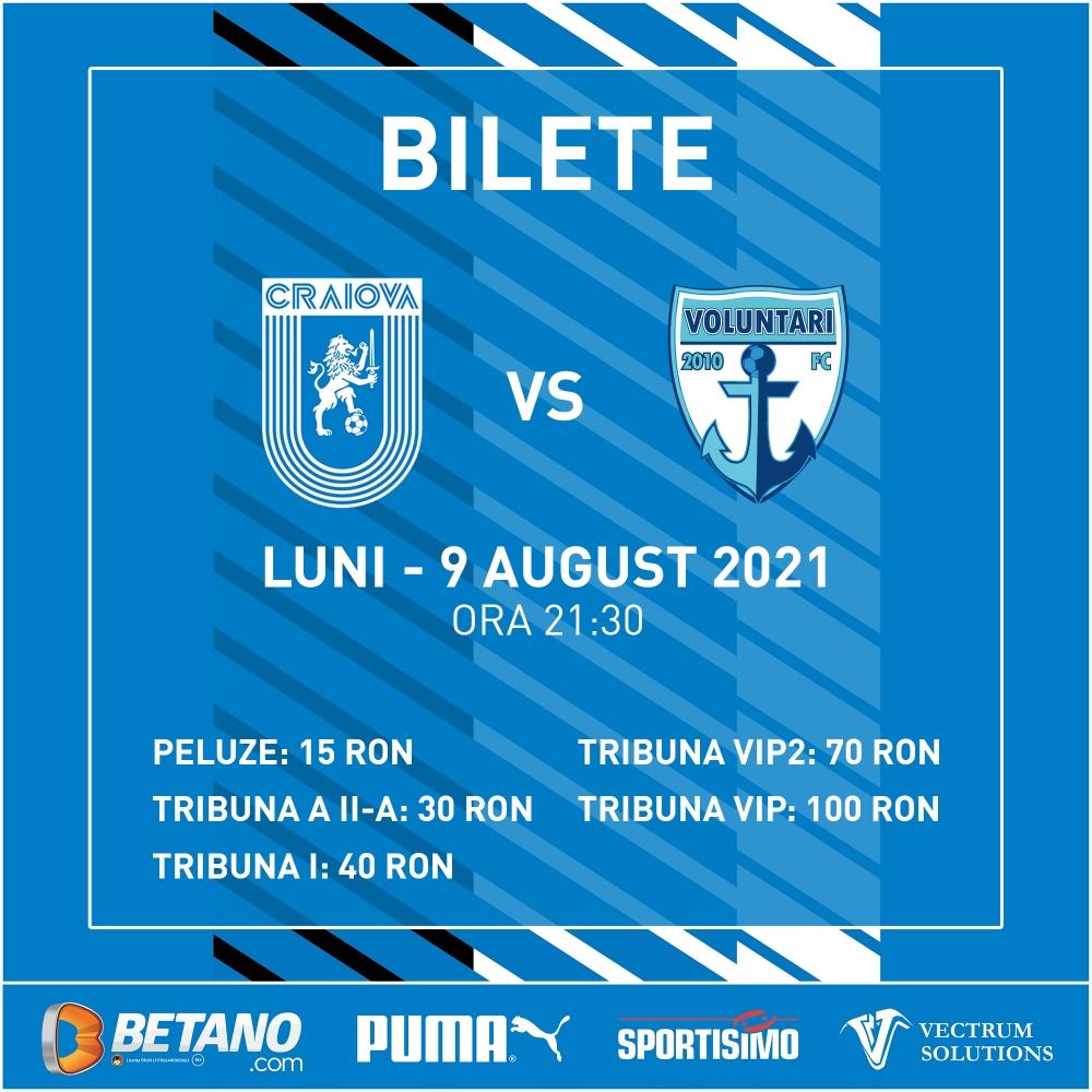 Start la bilete pentru meciul cu FC Voluntari