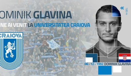 Ofensiva alb-albastră se întărește cu Dominik Glavina!