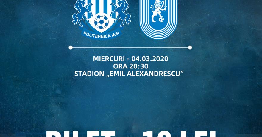 Totul despre bilete la meciul cu Iași din Cupă