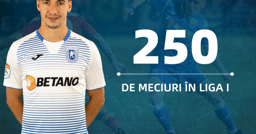 Alex Mateiu, 250 de meciuri în Liga I