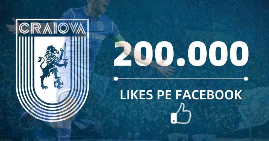 200.000 de like-uri pe Facebook