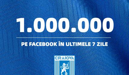 UN MILION pe Facebook în ultimele 7 zile