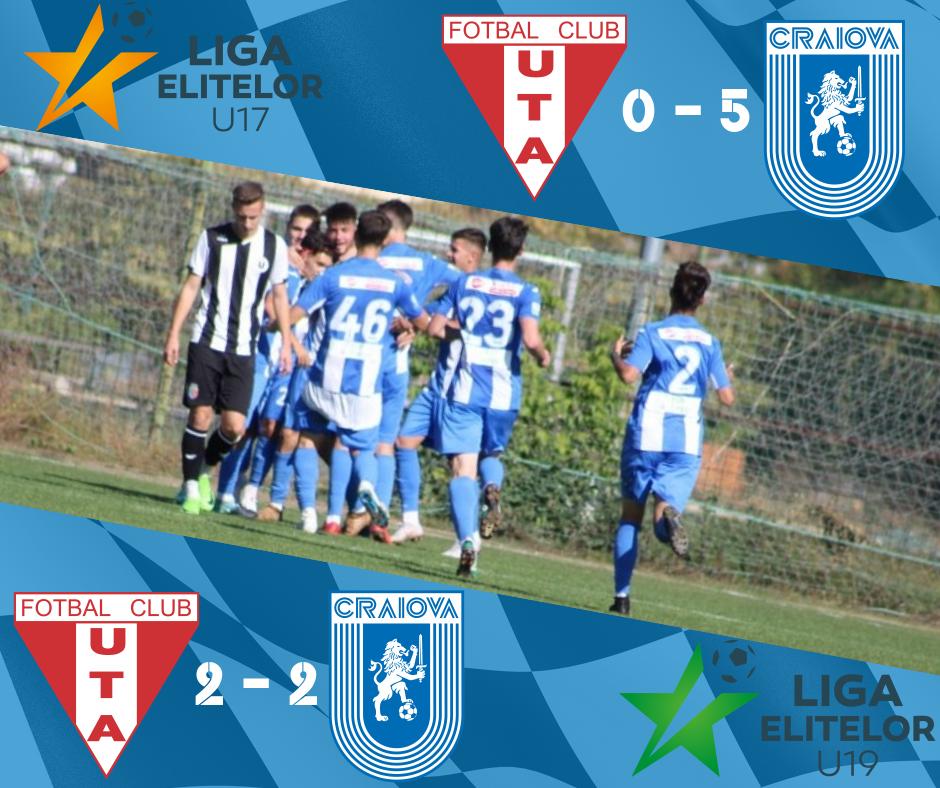 """4 puncte din """"dubla"""" de foc cu UTA Arad în Liga Elitelor"""