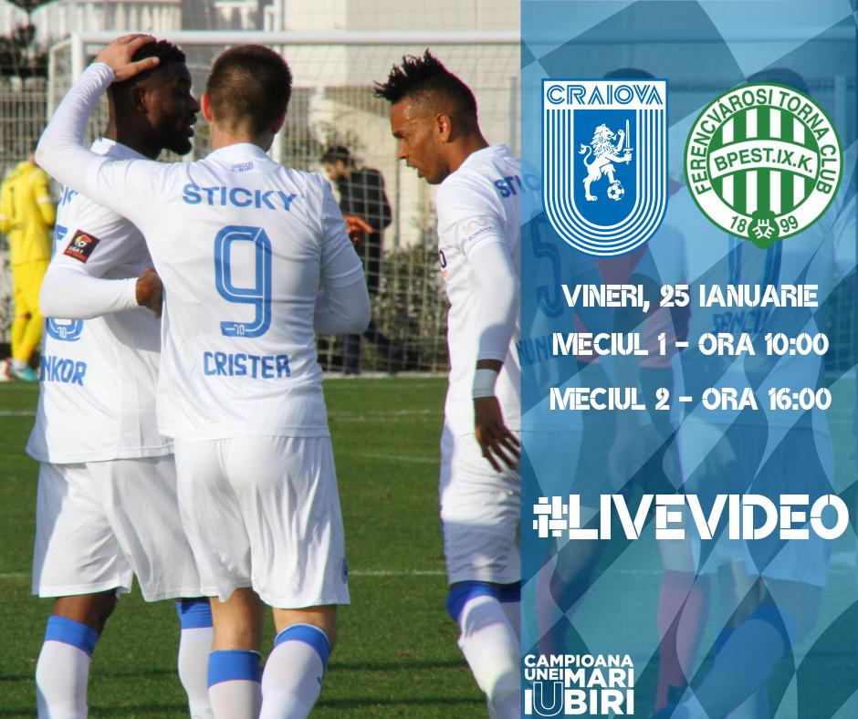 #LIVE: Universitatea Craiova - Ferencvaros 1 - 1 (meciul I)