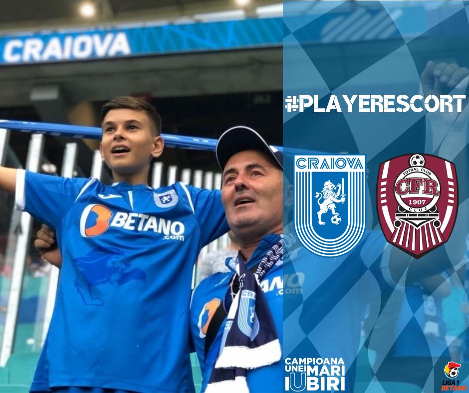 #PlayerEscort la primul meci acasă din 2019