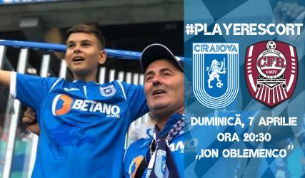 #PlayerEscort la derby-ul campionatului cu CFR Cluj