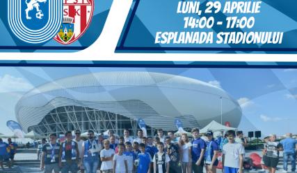 #FanZone pe esplanada stadionului înainte de meciul cu Sepsi OSK