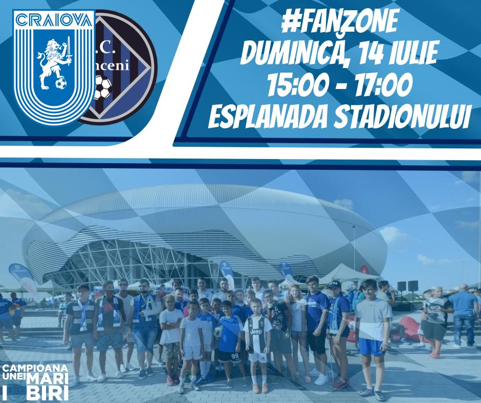 #FanZone pe esplanadă înaintea primului meci din noul sezon al Ligii 1