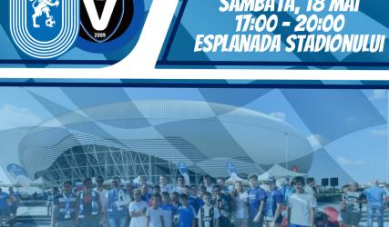 #FanZone pe esplanadă înaintea meciului cu FC Viitorul