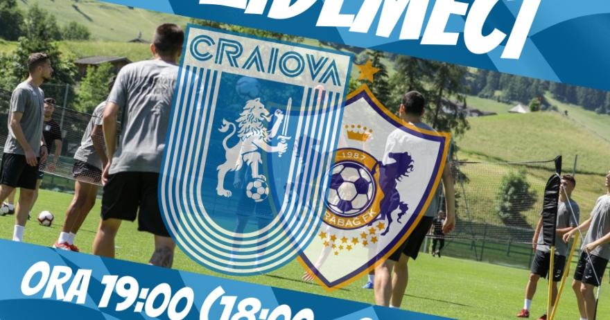 #LIVE: Universitatea Craiova - Qarabağ FK