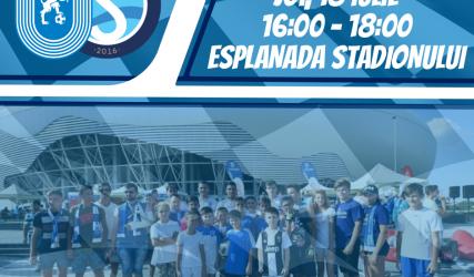 #FanZone pe esplanada stadionului înainte de meciul cu Sabail