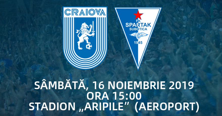 """Amical cu Spartak Subotica la stadionul """"Aripile"""""""