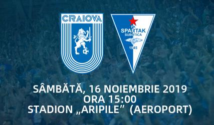 LIVE: Universitatea Craiova - Spartak Subotica