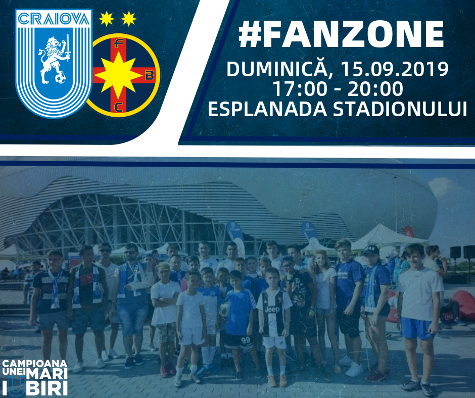 Fan-Zone la meciul cu FCSB