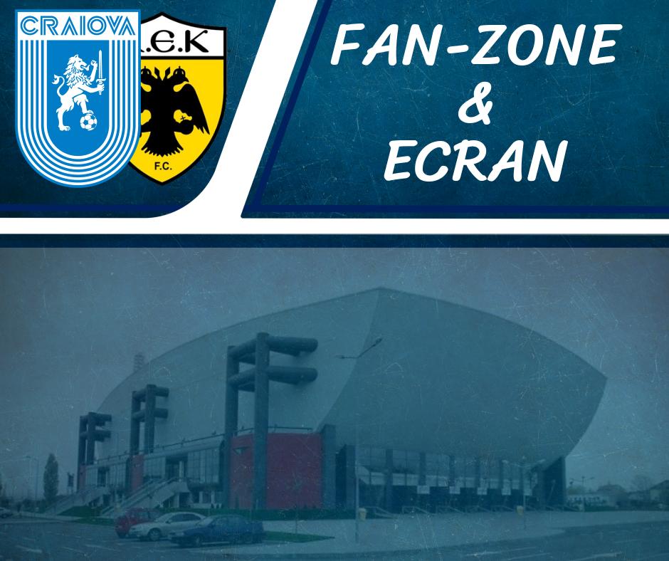 Fan-Zone și ecran pe esplanada Sălii Polivalente
