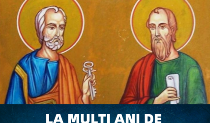La mulți ani de Sfinții Petru și Pavel!