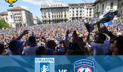 Sportul Snagov - Universitatea Craiova, în șaisprezecimile Cupei României, ediția 2018 - 2019