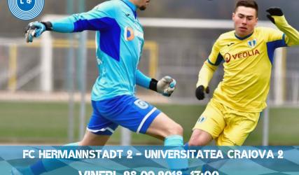 LIVE-VIDEO: AFC Hermannstadt 2 - Universitatea Craiova 2