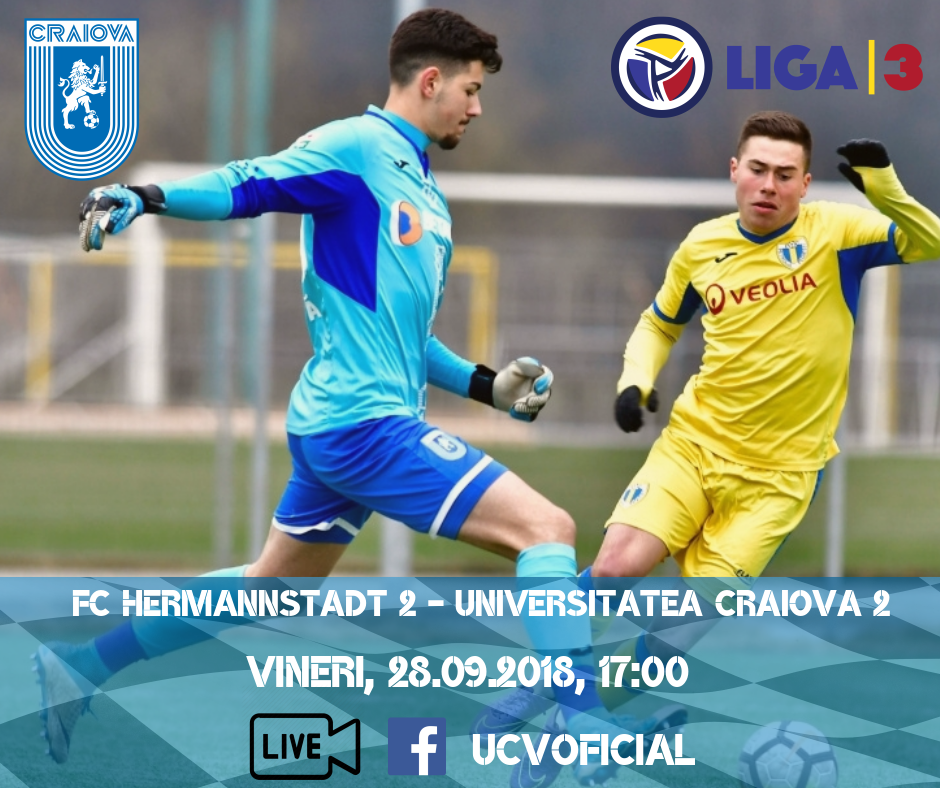 LIVE-VIDEO: AFC Hermannstadt 2 - Universitatea Craiova 2