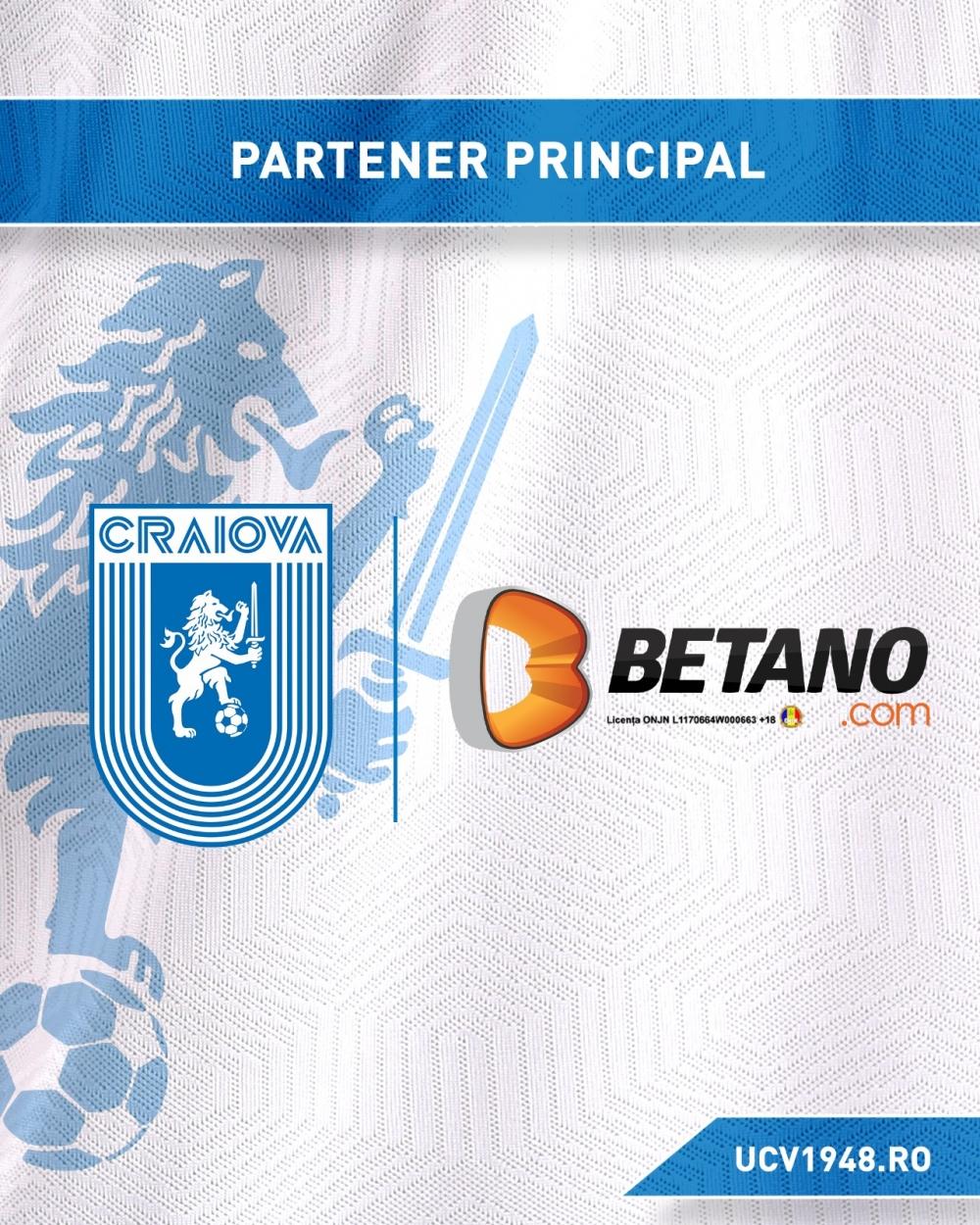 Craiova și Betano continuă împreună