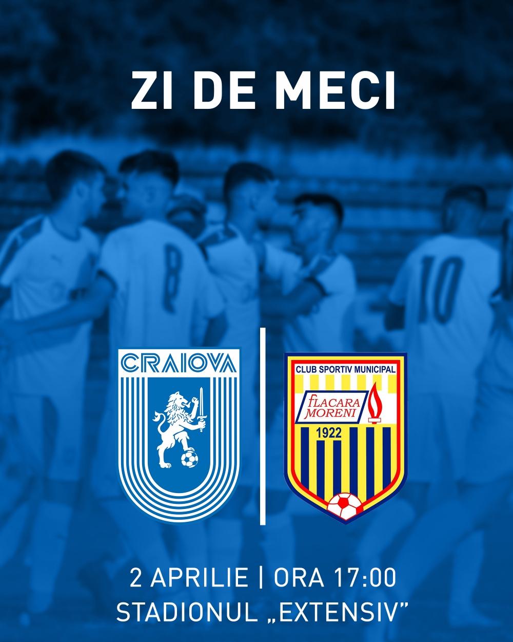LIVE: Universitatea Craiova 2 - Flacăra Moreni