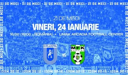 #LIVE: Universitatea Craiova - MFK Karvina