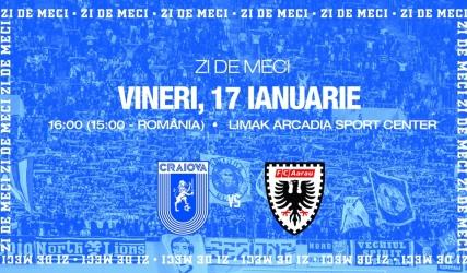 #LIVE: Universitatea Craiova - FC Aarau