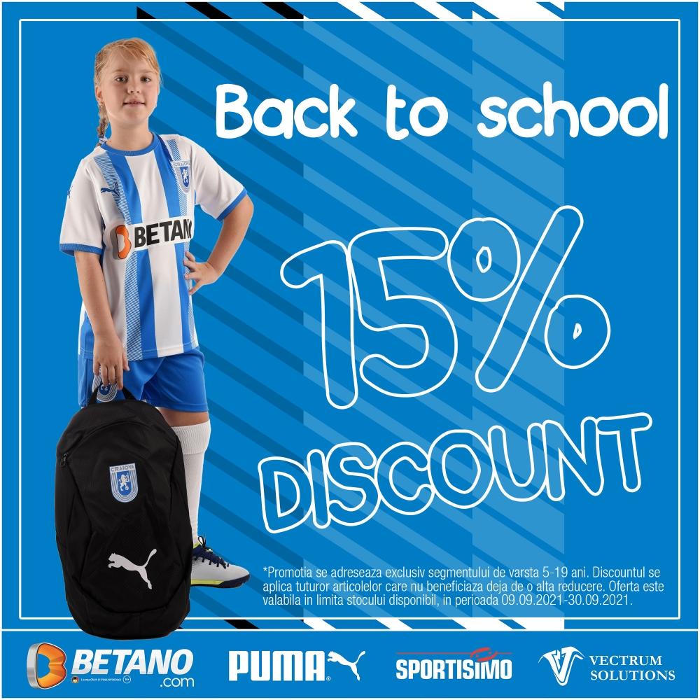 Back to school cu discount de 15%