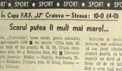 40 de ani de la Craiova - Steaua 10 - 0