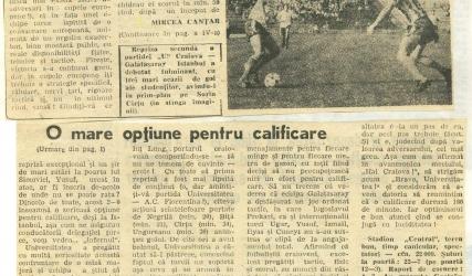 35 de ani de la victoria cu Galatasaray