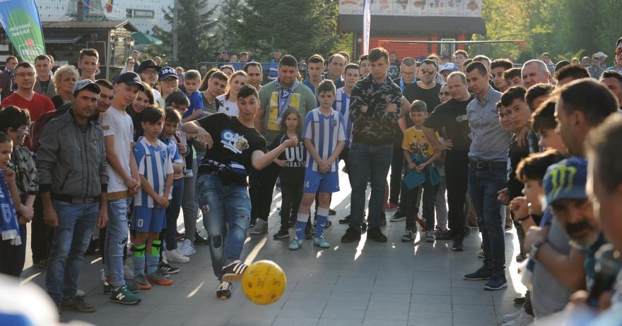 #FanZone în centrul Craiovei înaintea meciului cu Chiajna