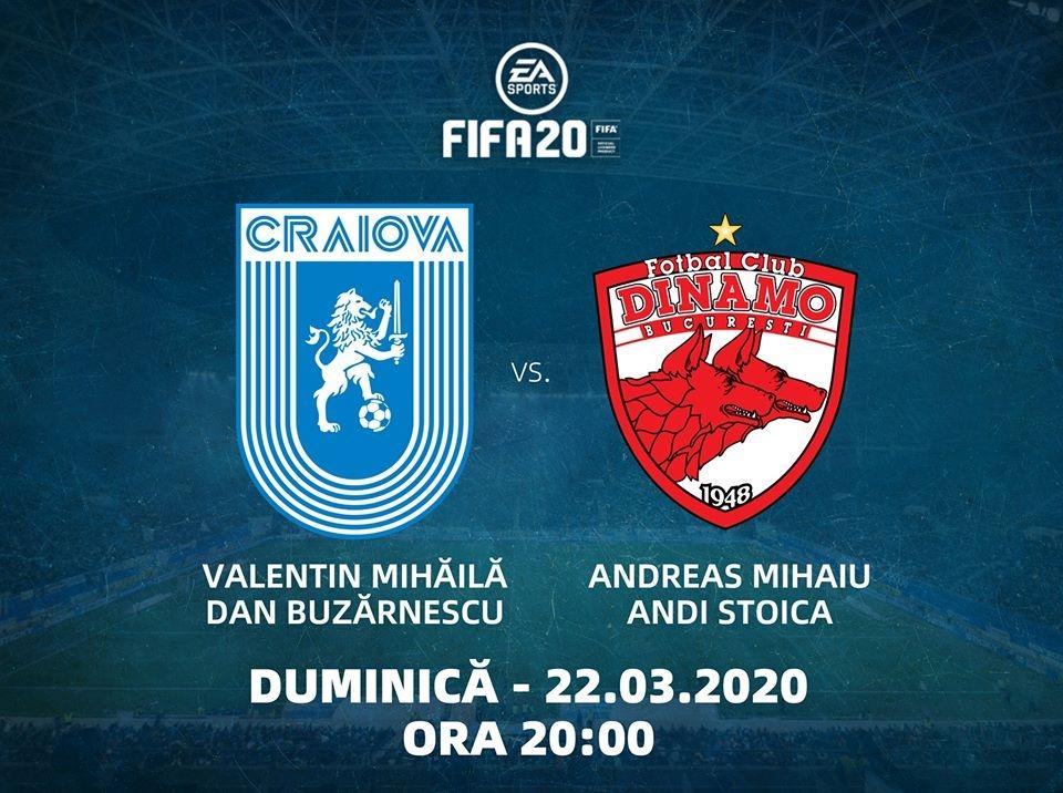 #LIVE: Universitatea Craiova - Dinamo București (FIFA 20)