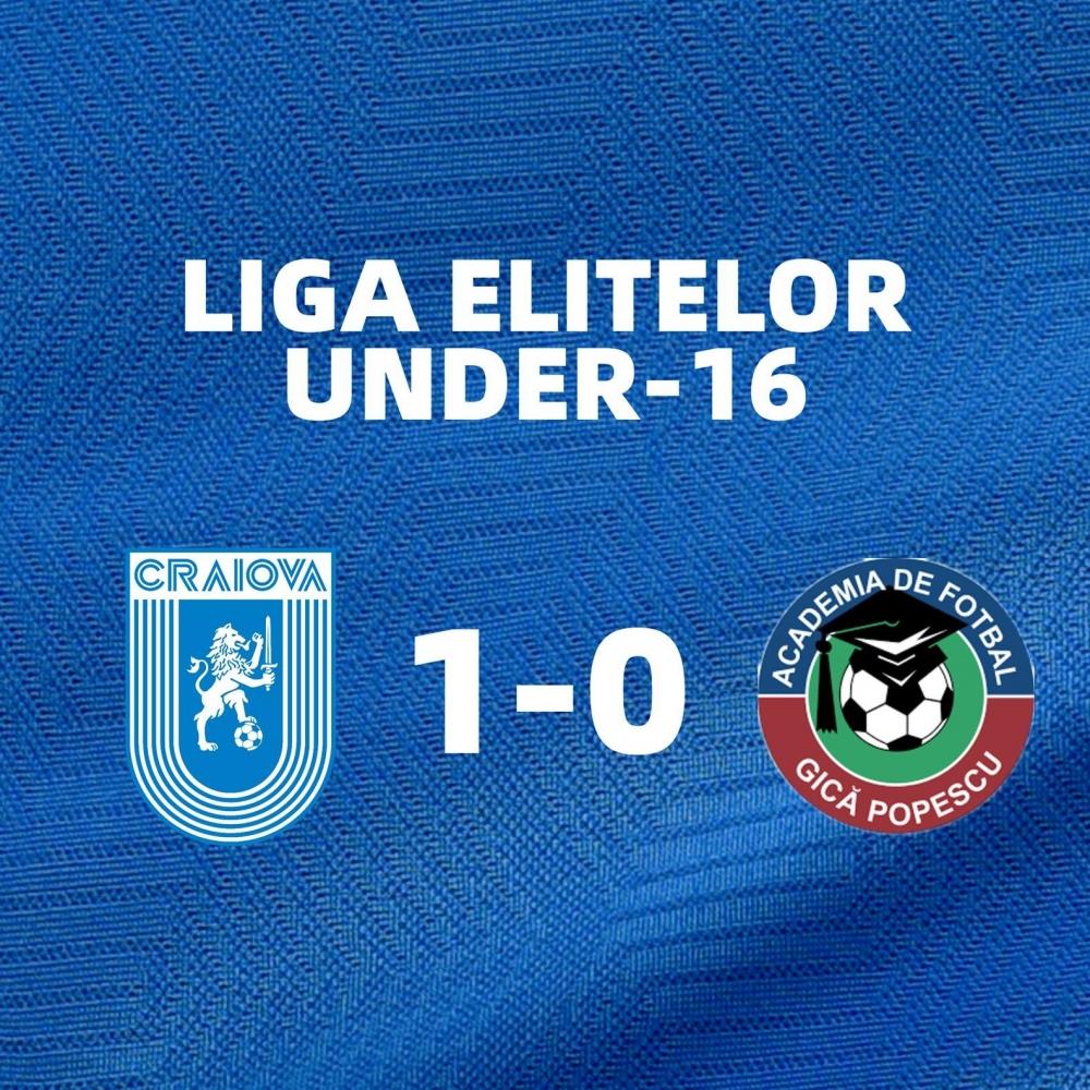 Rezultatele obținute de juniori în Liga Elitelor