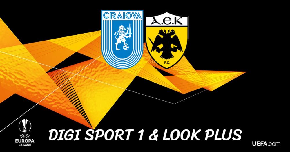Digi Sport și Look Plus transmit manșa tur cu AEK Atena