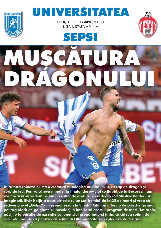 Programul de meci cu Sepsi OSK, în format digital